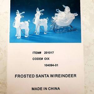NIB 🎄💕 Super CUTE 🎄 Santa sleigh w/ Reindeer